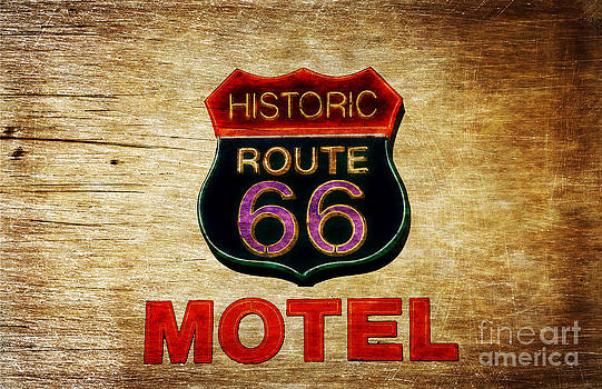 Historic Route 66 Motel sign Kingman by Heinz G Mielke