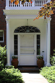 Historical Door With Columns by Denyse Duhaime