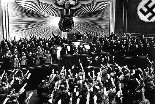Hitler Accepts The Ovation by Everett