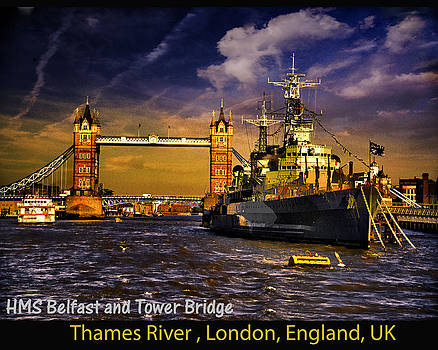 Ludmila Nayvelt - HMS Belfast and Tower Bridge
