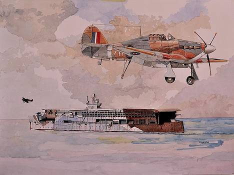 HMS Furious by Ray Agius