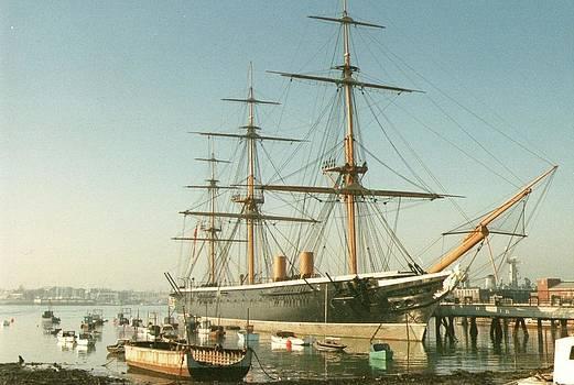 HMS Warrior at Portsmouth by Geoff Cooper