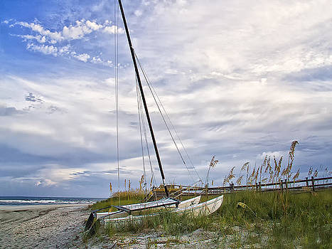 Hobie Cat on the Beach by Sandra Anderson