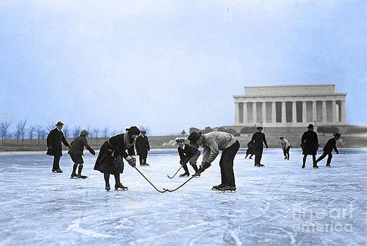 Jost Houk - Hockey at the Lincoln Memorial