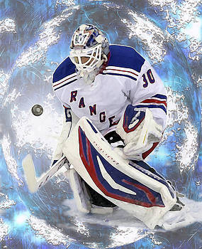 Hockey Goalie by Barbara Giordano