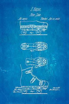Hodgson Roller Skate Patent Art 1869 Blueprint by Ian Monk
