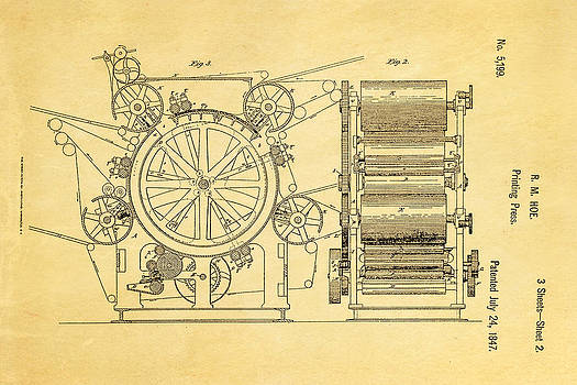 Ian Monk - Hoe Printing Press Patent Art 2 1847
