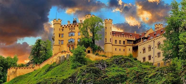 Hohenschwangau Castle Bavaria Germany Panorama by Julia Fine Art And Photography