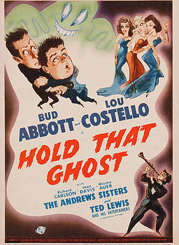 Hold That Ghost, Us Poster Art, Bud by Everett