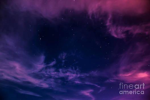 Hole in the night sky on Siesta Key by Shawn  Bowen