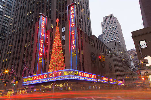 Holiday Lights at Radio City  by Denise Rafkind
