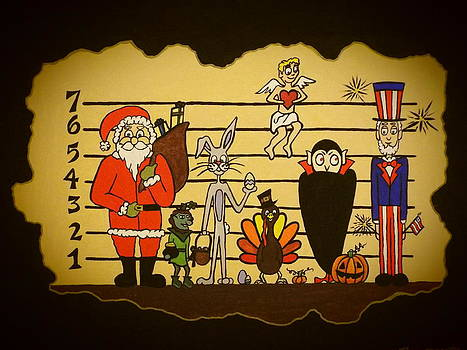 Holiday Line-up by Stefanie Beauregard