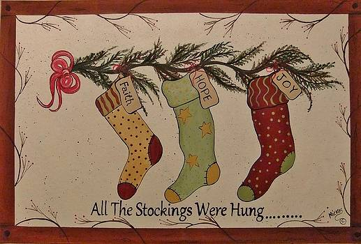 Holiday Stockings by Cindy Micklos