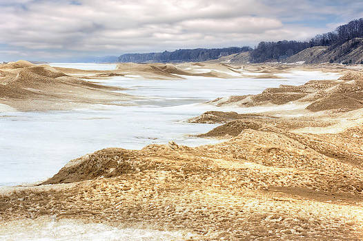 Holland State Park Snow Dunes by Jenny Ellen Photography