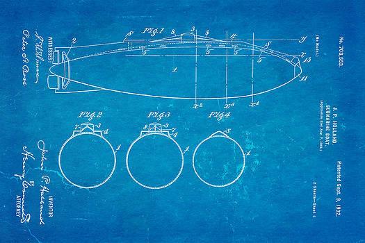 Ian Monk - Holland Submarine Patent  Art 1902 Blueprint