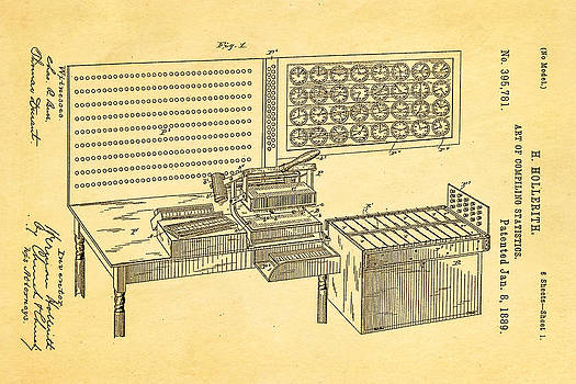 Ian Monk - Hollerith Punched Card Patent Art 1889