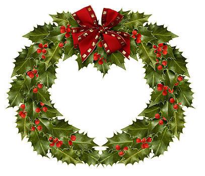 Holly wreath by Gillian Dernie