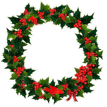 Jo Ann Snover - Holly wreath with berries