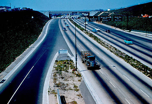 Hollywood Freeway 1954 by Cumberland Warden