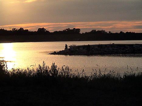 Holmes Lake Sunset by Paul Versaw