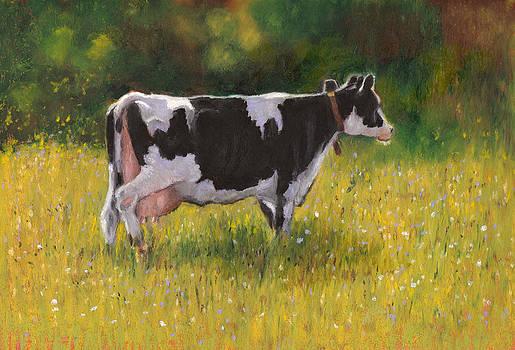 Joyce Geleynse - Holstein Cow in Summer Pasture