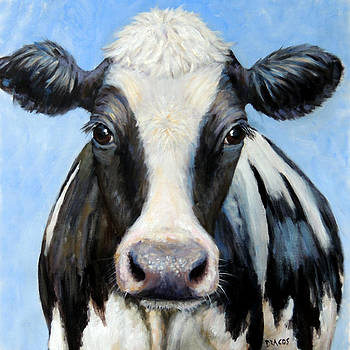 Holstein Cow Squared by Dottie Dracos