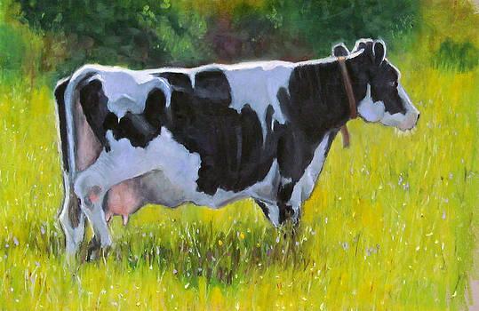 Joyce Geleynse - Holstein Dairy Cow in Oil Pastel