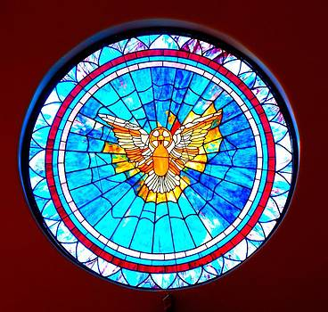 Holy Spirit in Stained Glass by Cindy Croal