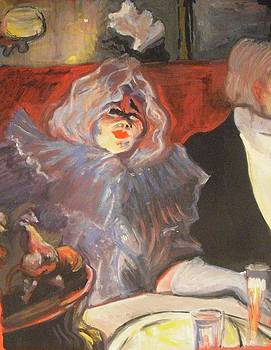Homage to Lautrec in a private room at the rat mort by Michelle Deyna-Hayward