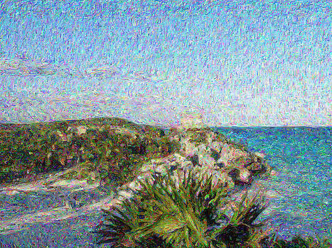 Homage to Vincent Had He Only Seen Cozumel II by Judy Paleologos