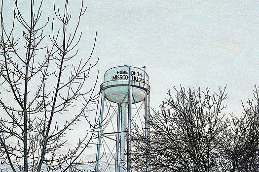 KayeCee Spain - Home of the Missco Tigers- Colored Pencil Effect