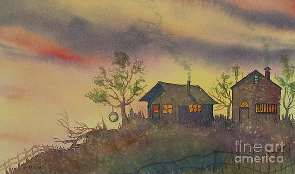 Homestead at Twilight by Teresa Ascone