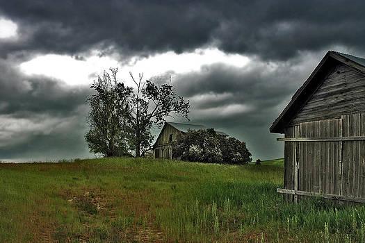 Homestead Under Stormy Skies by Doug Fredericks