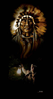 hommage at Edward s. Curtis by Gino Carrier