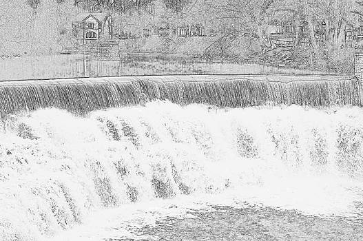 Linda Rae Cuthbertson - Honeoye Falls Pencil Sketch
