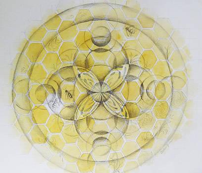 Honey Bee Mandala by Andrea Thompson