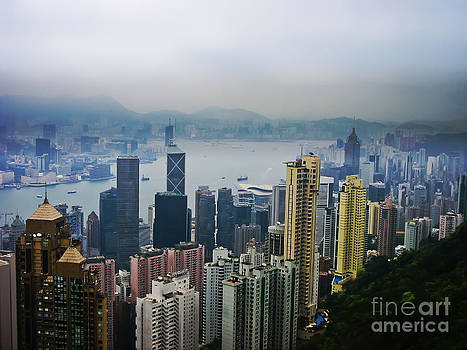 Hong Kong Harbor Mists by Suzanne Simpson