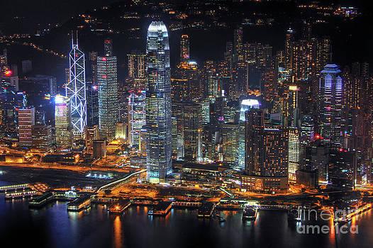 Hong Kong's Skyline at Night by Lars Ruecker