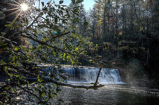 Hooker Falls Sunburst by Everett Leigh