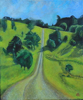 Hooper Road Maleny Queensland Australia I Walked this Road Every Day and Decided I Must Paint the Be by Cynthia Van Leeuwen