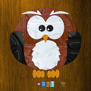 Design Turnpike - Hoot the Owl License Plate Art