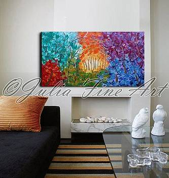 Real Size Interior Example by Julia Fine Art