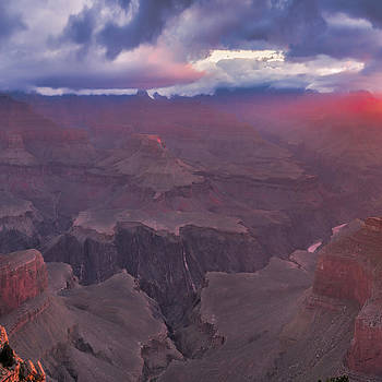 Hopi Point warming Panorama Topaz 2 of 3  40 x 40  by Paul James