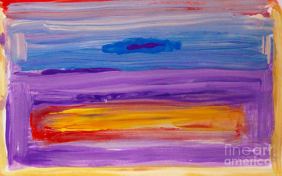 Horizontal landscape after Rothko by Anne Cameron Cutri