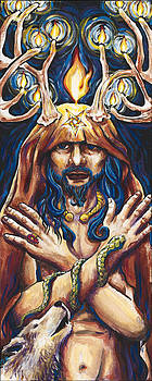 Horned God by Helga HedgeWalker