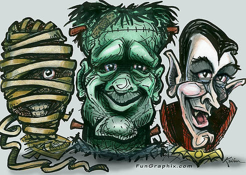 Horror Movie Monsters by Kevin Middleton