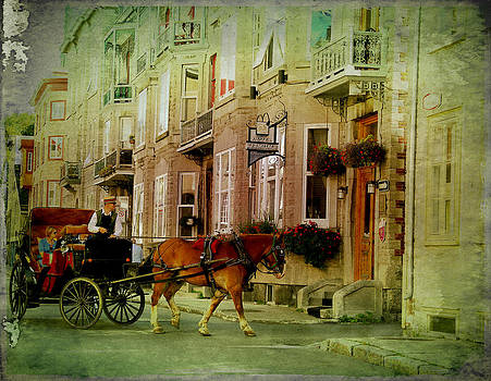 Laura Carter - Horse and Buggy Street Scene Photograph