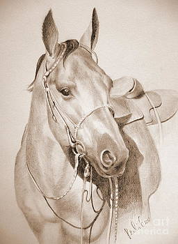 Horse Drawing by Eleonora Perlic