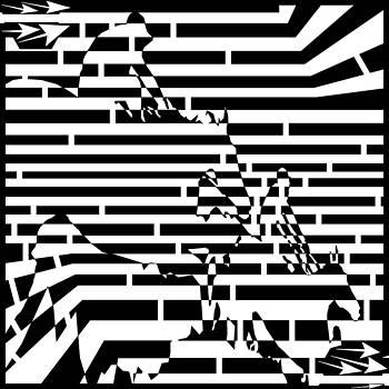 Horse Race Maze by Yonatan Frimer Maze Artist