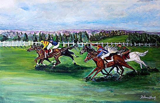 Horse Racing by Helene Khoury Nassif